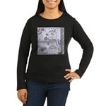 Girly Purple Vintage Collage Women's Long Sleeve D