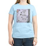 Girly Purple Vintage Collage Women's Light T-Shirt