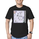 Girly Purple Vintage Collage Men's Fitted T-Shirt