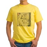 Girly Purple Vintage Collage Yellow T-Shirt