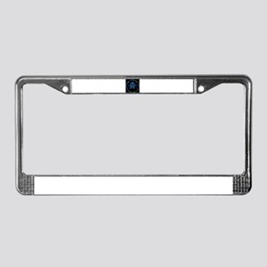 Open All Night (blk/bl) License Plate Frame