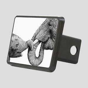 African Elephants Rectangular Hitch Cover