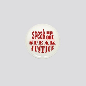Speak Justice Mini Button