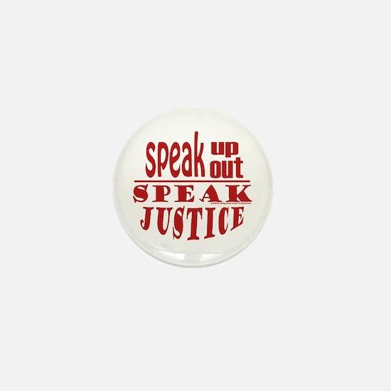Speak Justice Mini Button