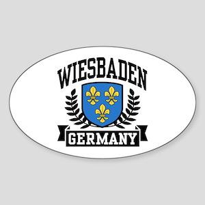 Wiesbaden Germany Sticker (Oval)