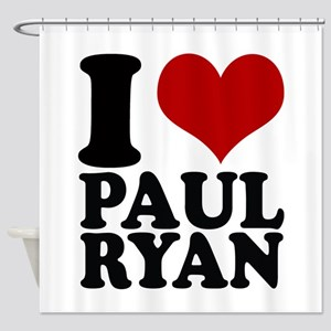 i heart Paul Ryan Shower Curtain