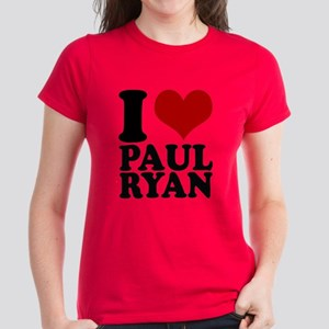 i heart Paul Ryan Women's Dark T-Shirt