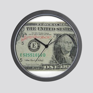 WHERES GEORGE.COM Wall Clock