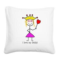 Princessitudeespeciallyme Square Canvas Pillow