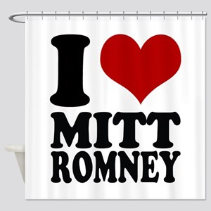 I heart Mitt Romney Shower Curtain