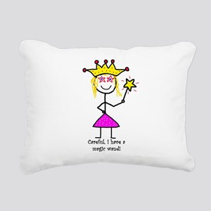 Princessitude! Magic Wand Rectangular Canvas Pillo