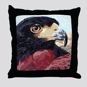 Niki-Harris Hawk Throw Pillow