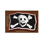 Jolly Roger Pirate Booty Plank Magnet Brown 10 pak