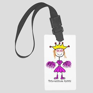 Princessitude Cheerleader Large Luggage Tag