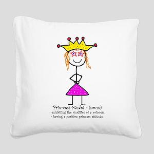 Princessitude! Definition Square Canvas Pillow