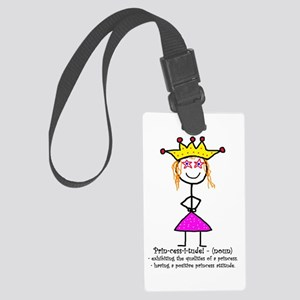 Princessitude! Definition Large Luggage Tag
