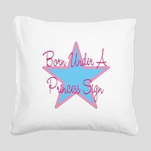 Princess Sign 2 Square Canvas Pillow