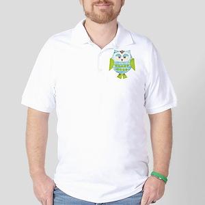 Blue Argyle Owl Golf Shirt