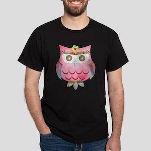 Pink Gypsy Owl Dark T-Shirt