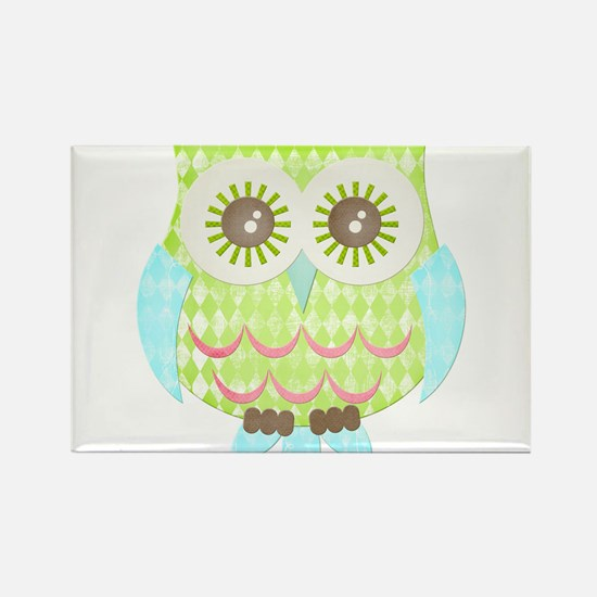 Bright Eyes Owl Rectangle Magnet (10 pack)