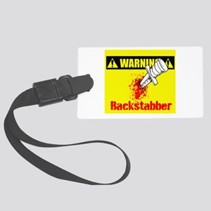 Warning: Backstabber Large Luggage Tag