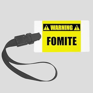 Warning: Fomite Large Luggage Tag