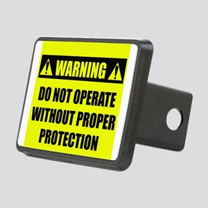 warningdonotoperate Rectangular Hitch Cover