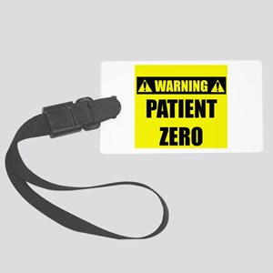 Warning: Patient Zero Large Luggage Tag