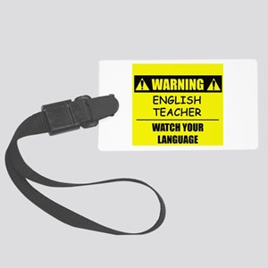 Warning: English Teacher Large Luggage Tag