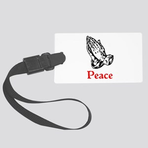 Praying Hands/Peace Large Luggage Tag