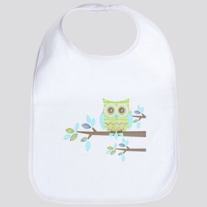 Bright Eyes Owl in Tree Bib