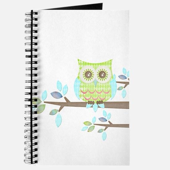 Bright Eyes Owl in Tree Journal