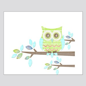 Bright Eyes Owl in Tree Small Poster