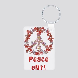 Attraction PeaceOut V Aluminum Photo Keychain