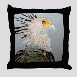 Secretary Bird Throw Pillow