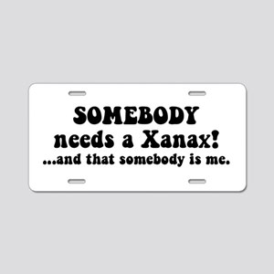 Xanax Aluminum License Plate