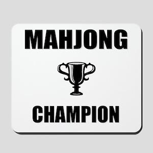 mahjong champ Mousepad