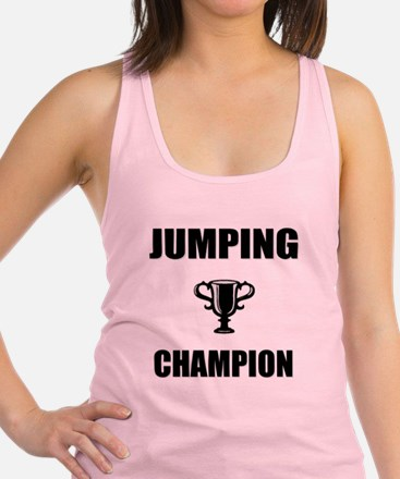 jumping champ Racerback Tank Top