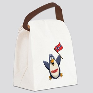 Norway Penguin Canvas Lunch Bag