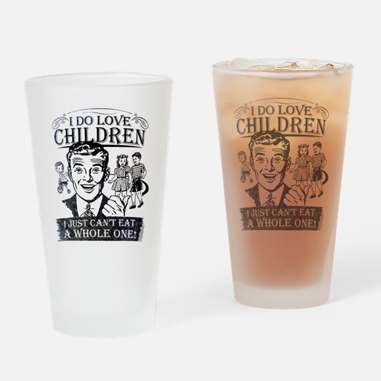 I Do Love Children Drinking Glass