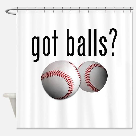 Got Balls? Baseball Shower Curtain