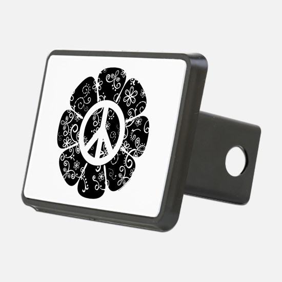 Peace Symbol Flower Hitch Cover