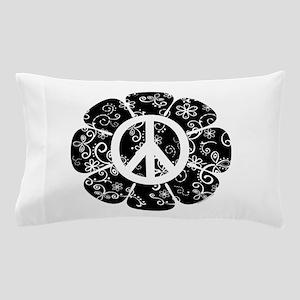 Peace Symbol Flower Pillow Case