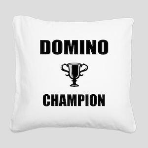 domino champ Square Canvas Pillow