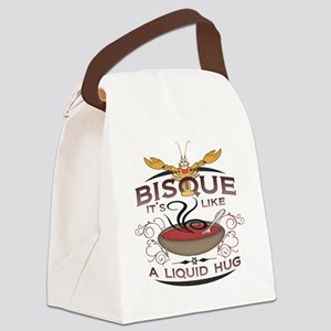 2-bisque-white-distress Canvas Lunch Bag
