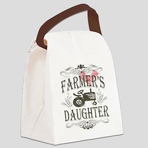 farmer-white-distress Canvas Lunch Bag
