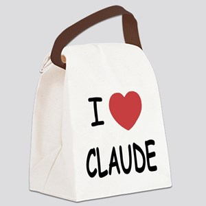 I heart CLAUDE Canvas Lunch Bag