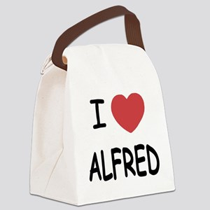 I heart ALFRED Canvas Lunch Bag