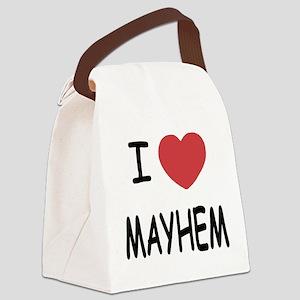 I heart mayhem Canvas Lunch Bag