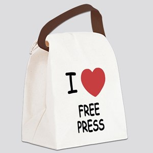 I heart free press Canvas Lunch Bag